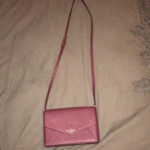 Kate Spade maroon cross body purse